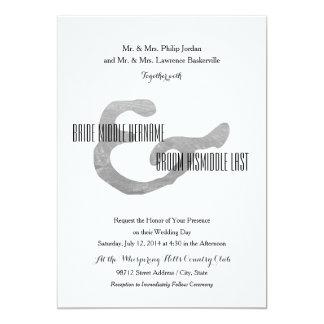 Prensa de copiar rústica invitación 12,7 x 17,8 cm