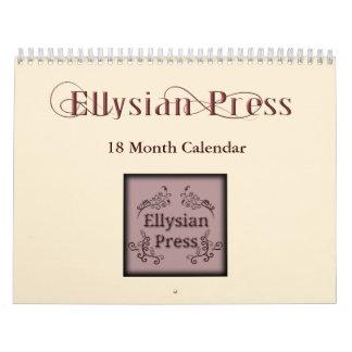 Prensa de Ellysian calendario de 18 meses
