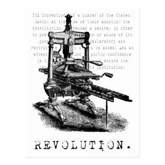 ¡Prensa = REVOLUCIÓN! Postal