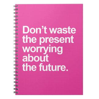 Preocupación de la cita futura cuaderno