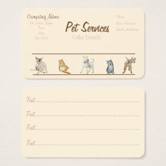 preparación del perro y cita de los servicios del tarjeta de negocios