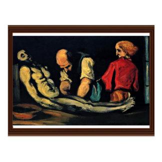 Preparación para el fúnebre (la autopsia) tarjetas postales