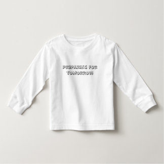 Preparación para el texto de la mañana camiseta de bebé