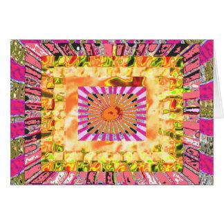 Presentación artística de la sol y del collage de tarjeta de felicitación