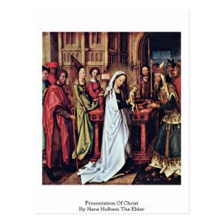 Presentación de Cristo de Hans Holbein la anciano Postal