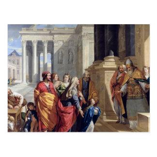 Presentación de la Virgen en el templo Postal