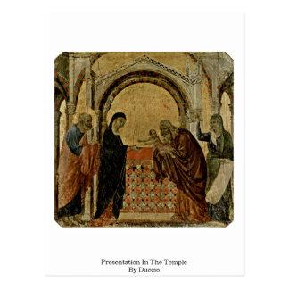 Presentación en el templo por Duccio Postal