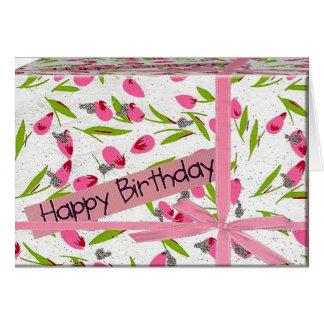presente de cumpleaños tarjeta de felicitación