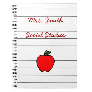 Presente del regalo del cuaderno de Apple del