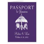 Presente del viaje del cumpleaños del pasaporte de tarjeta pequeña