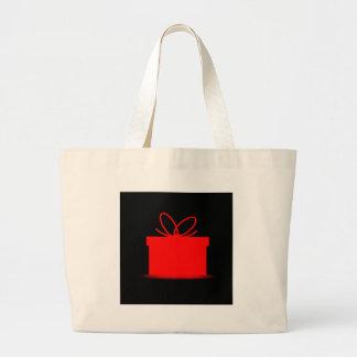 Presente en una caja roja bolsa de tela grande