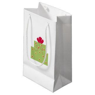 Presente moderno del verde bolsa de regalo pequeña