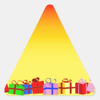 Presentes de Navidad Pegatina Triangular