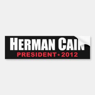 Presidente 2012 de Herman Caín Pegatina De Parachoque