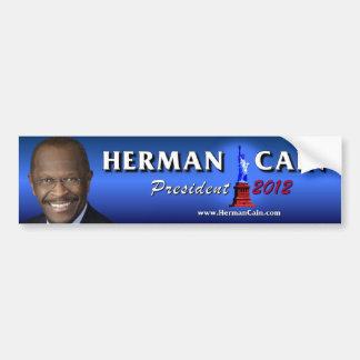 Presidente 2012 de Herman Caín Pegatina Para Coche