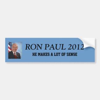 Presidente 2012 de Ron Paul Pegatina De Parachoque