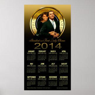 Presidente 2014 y primera señora Obama Calendar Impresiones