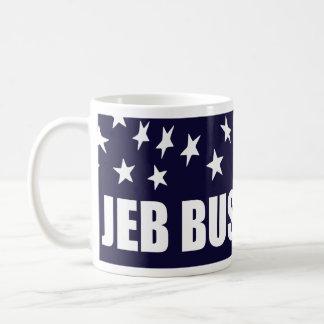 Presidente 2016 bandera americana de Jeb Bush Taza De Café