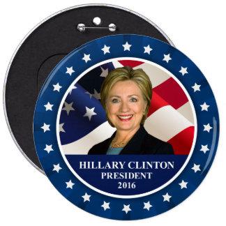 Presidente 2016 botón enorme azul de Hillary