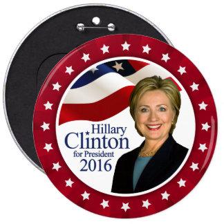 Presidente 2016 botón rojo enorme de Hillary