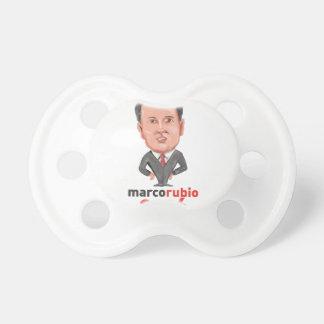 Presidente 2016 de Marco Rubio Caricature Chupetes