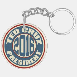 Presidente 2016 de Ted Cruz Llavero Redondo Acrílico A Doble Cara