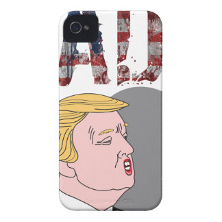 Presidente anti sarcástico divertido Donald Trump Carcasa Para iPhone 4 De Case-Mate