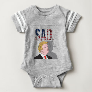 Presidente anti triste sarcástico divertido Donald Body Para Bebé