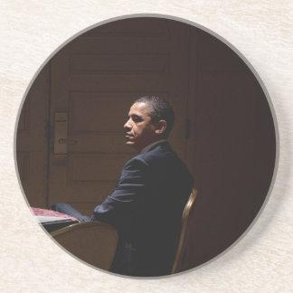 Presidente Barack Obama 12 Posavasos De Arenisca