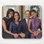 Presidente Barack Obama y familia Tapete De Ratones