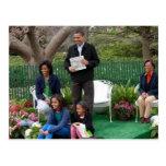 Presidente Barack Obama y familia Tarjetas Postales