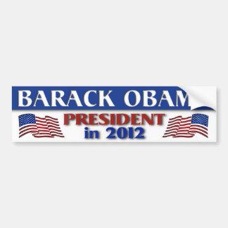 Presidente de Barack Obama en 2012 Pegatina Para Coche