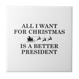 Presidente del navidad azulejo
