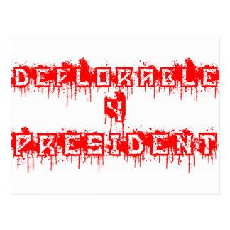 Presidente deplorable 4 postal