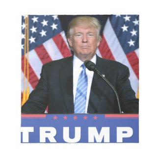 Presidente Donald Trump Bloc De Notas