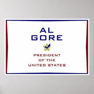 Presidente los E.E.U.U. V2 de Al Gore Impresiones