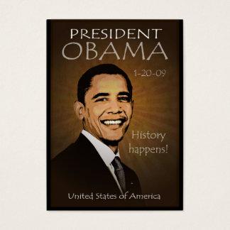 Presidente Obama - calendario del bolsillo del Tarjeta De Negocios