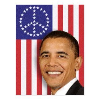 Presidente Obama Peace Banner Postal