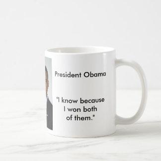 Presidente Obama Quotes Mug 2015 Taza Básica Blanca
