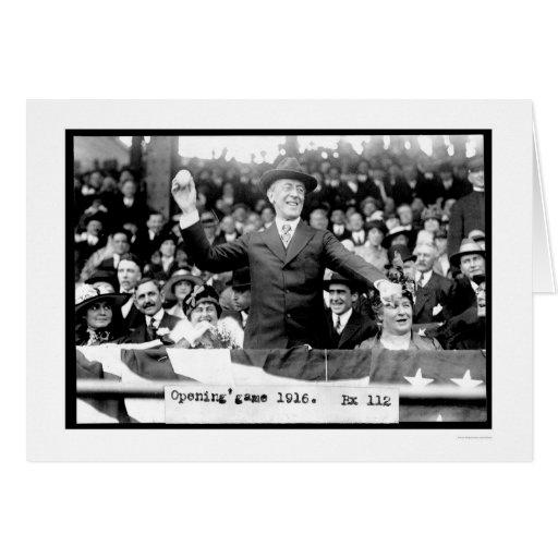 Presidente Throwing Baseball 1916 Felicitación