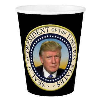 Presidente Trump Photo Presidential Seal Vaso De Papel