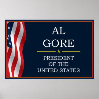 Presidente V3 de Al Gore Póster