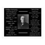 Presidente William McKinley Postales