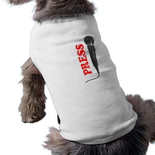 Presione la plantilla de la camisa del perro prenda mascota