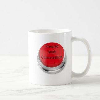 Presione para encender la taza de café de la