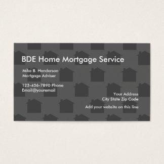 Prestamista hipotecario casero tarjeta de negocios