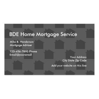 Prestamista hipotecario casero tarjetas de visita