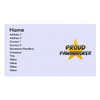 Prestamista orgulloso tarjeta de negocio