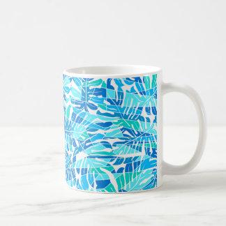 Presupuesto abstracto azul de la resaca taza de café