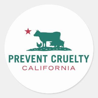 Prevenga al pegatina de CA de la crueldad